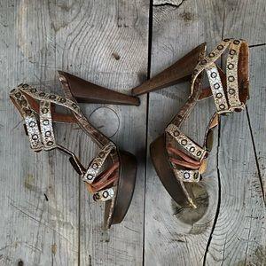 ALDO open toe heel sandals